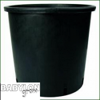 Plastic round flower pot