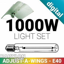 Adjust A Wing with 1000W HPS and digital ballast grow light set
