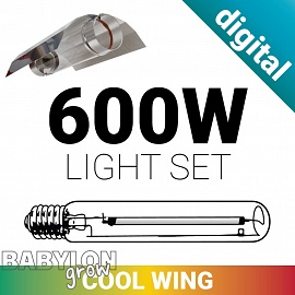 CoolWing grow light set with digital ballast 600W