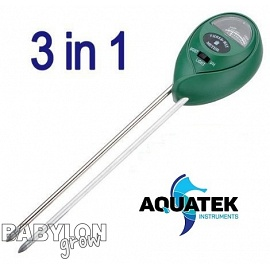 Aquatek 3 in 1 Soil Tester (Light, moisture, pH)