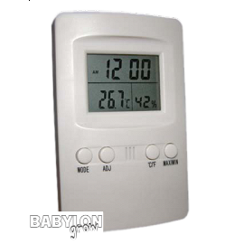 Digital temperature and humidity meter without cable