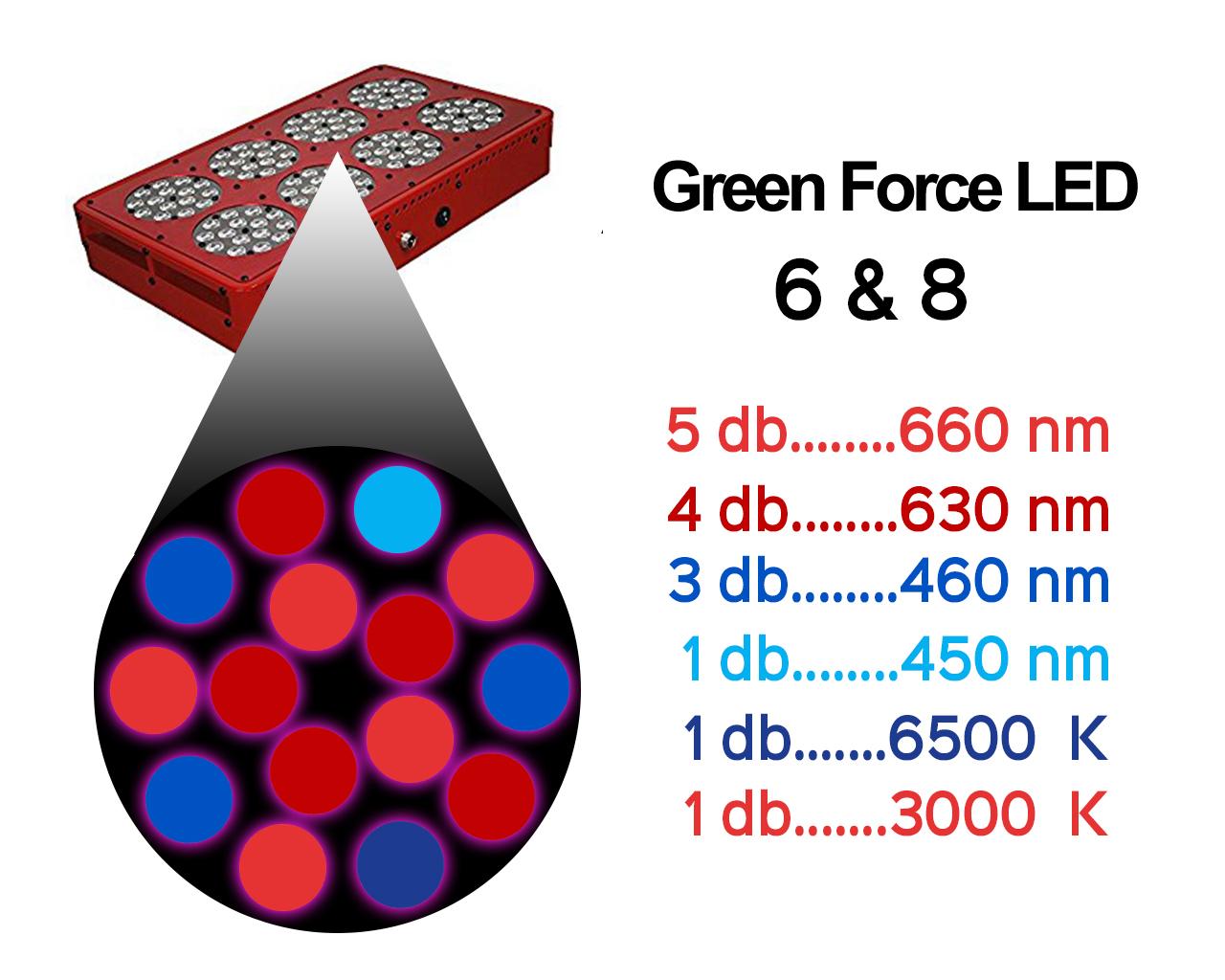 Green Force LED lámpa